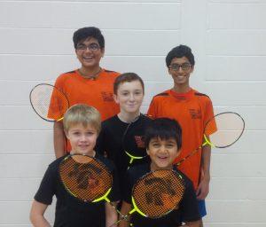 Front: Cameron Bird, Om Patel.  Middle: Morgan Gillan.  Back: Shrey Patel, Dhir Patel